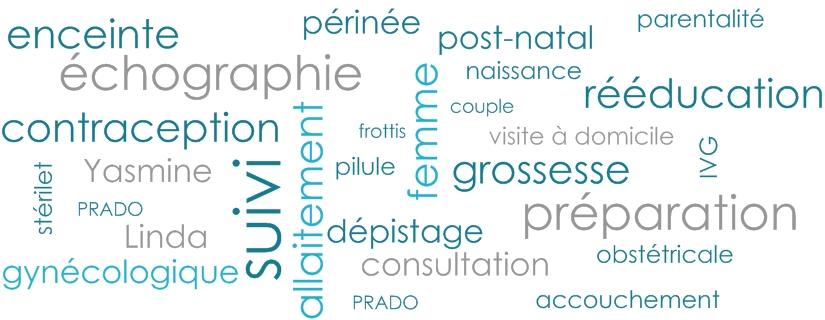 Echographie et suivi de grossesse, contraception et rééducation manuelle du périnée
